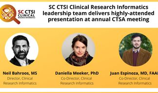 SC CTSI Clinical Research Informatics leadership team delivers highly-attended presentation at annual CTSA meeting