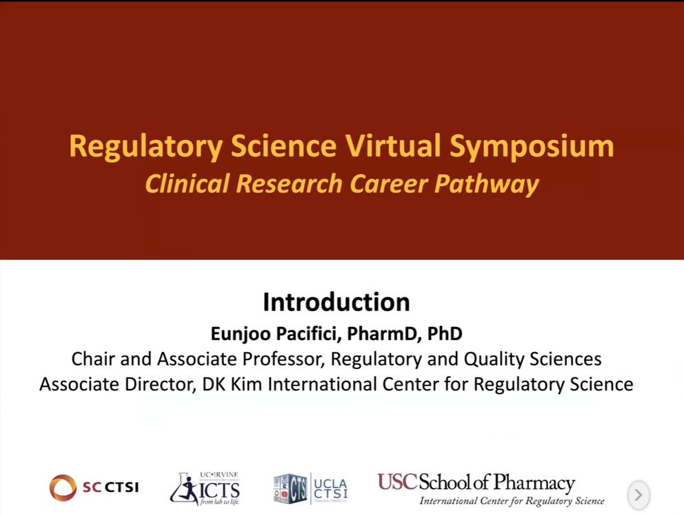 "Regulatory Science Virtual Symposium: ""Clinical Research Career Pathways"" Session 1: Introduction (2021)"