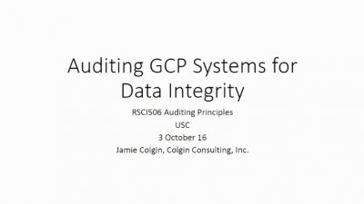 Monitoring and Auditing Bootcamp Session 3: Auditing GCP Systems for Data Integrity (2016)