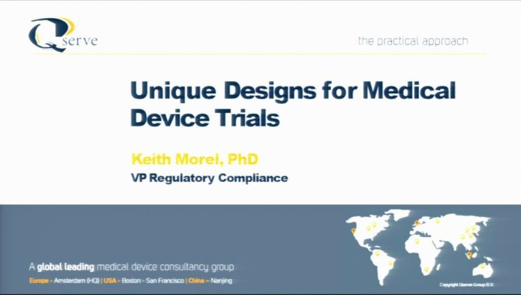 Regulatory Aspects of Clinical Trial Design Bootcamp Session 4: Unique Designs for Medical Device Trials (2018)