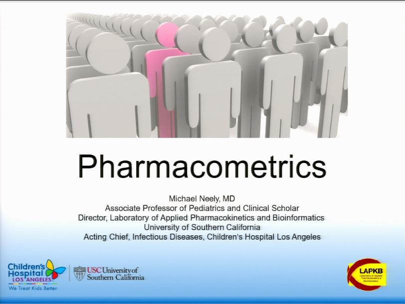 Special Populations Bootcamp Session 1: Pharmacometrics (2017)
