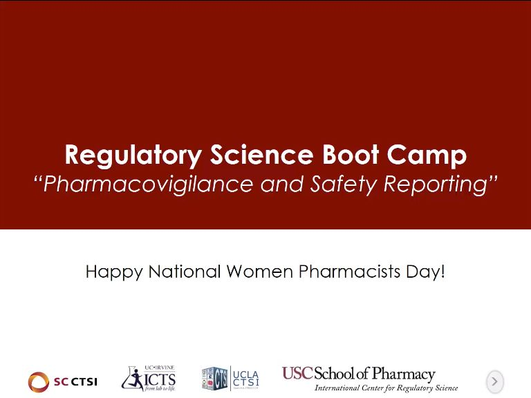 Pharmacovigilance and Safety Reporting Boot Camp Session 1: Introduction (2018)