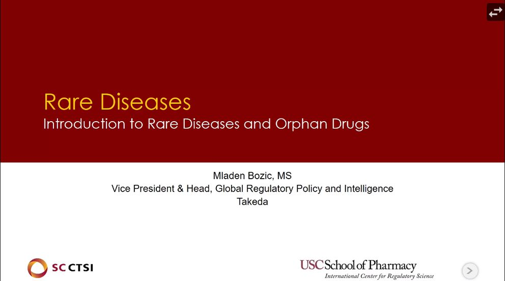 Patient-Centered Drug Development and Real World Evidence/Data Boot Camp Session 4: Rare Diseases (2019)